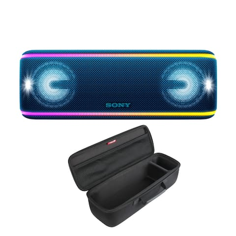 Sony SRS-XB41 Portable Bluetooth Speaker (Blue) with Carrying Case