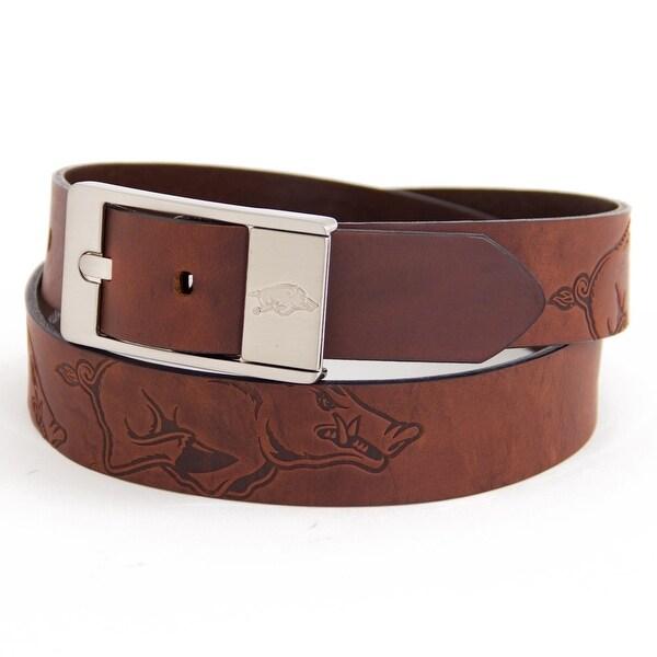 University of Arkansas Brandish Leather Belt