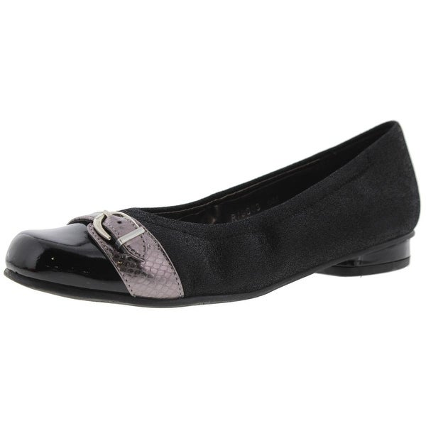 Rose Petals by Walking Cradles Womens Mulberry Flats Suede Embossed