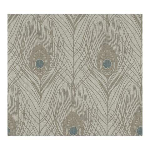 Prosperity Bronze Feather Wallpaper - 20.9 x 396 x 0.025