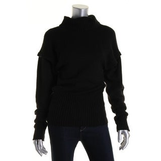 Catherine Malandrino Womens Wool 2Fer Turtleneck Sweater - 4