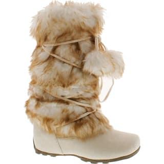 Blossom Womens Tara-Hi Pom Pom Winter Fashion Boots - Ice|https://ak1.ostkcdn.com/images/products/is/images/direct/dbea130e56d7181c505217b674e27ee57e7d989b/Blossom-Womens-Tara-Hi-Pom-Pom-Winter-Fashion-Boots.jpg?impolicy=medium