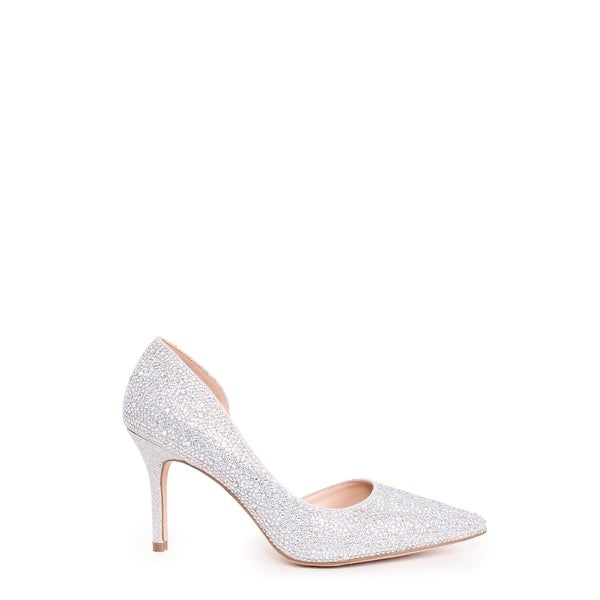 Embellished Pointed Toe Pump