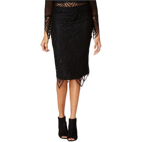 Material Girl Womens Lace Pencil Skirt