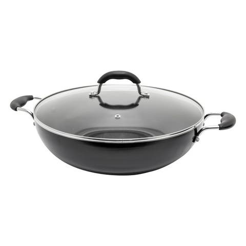 Starfrit 033170-002-0000 jumbo 13.5-inch wok with lid