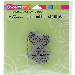 "Stampendous Cling Stamp 3.5""X4""-Heart Hand"