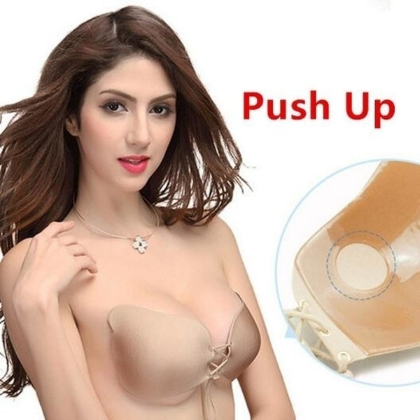 97da4e25d7 Shop 2017 Summer Hot Selling Fashion Invisible Push Up Bra Women s Strapless  Adhesive Demi Cup Bra Butterfly Wing Design - Free Shipping On Orders Over   45 ...