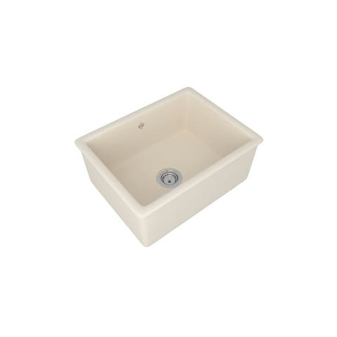 "Rohl UM2318 Shaws 23-7/16"" Undermount Single Basin Fireclay Kitchen Sink"