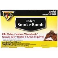 Bonide 61110 Revenge Rodent Smoke Bomb, 4 Pack