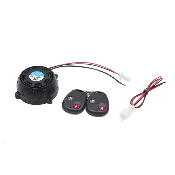 9-16V 315MHz Round Motorcycle Remote Control Anti-theft Alarm Secure System Set