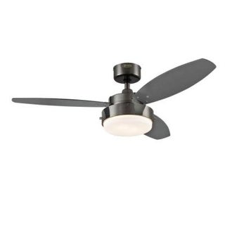 Westinghouse 7876400 42 inch Gun Metal Three Blade Reversible Ceiling Fan With Light