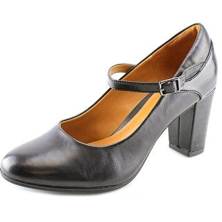 Clarks Narrative Bavette Cathy Women Round Toe Leather Black Mary Janes