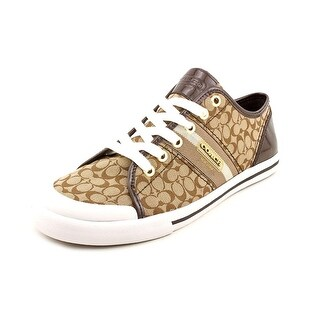 Coach Frances Women Round Toe Canvas Brown Sneakers