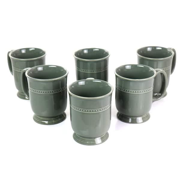 14.6 oz. Gibson Elite 6-Piece Transparent Glaze Barberware Mug Set