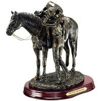 """Western Moments Statue One For The Road 8.5"""" x 7"""" Bronze"""