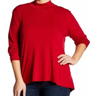 Bobeau NEW Red Women's Size 2X Plus Mock-Neck Ruched-Cuffs Sweater|https://ak1.ostkcdn.com/images/products/is/images/direct/dbee1d877e8eb075d4232e525f27b166b142cadc/Bobeau-NEW-Red-Women%27s-Size-2X-Plus-Mock-Neck-Ruched-Cuffs-Sweater.jpg?impolicy=medium