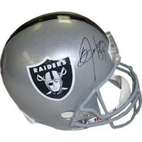 Bo Jackson signed Oakland Raiders Full Size Riddell Rep Helmet w 34  Jackson Hologram