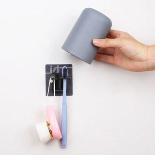 """Toothbrush Holder Wall Mount Anti-dust Toothbrush Washing Storage Set - 2.8"""" x 4.1"""""""