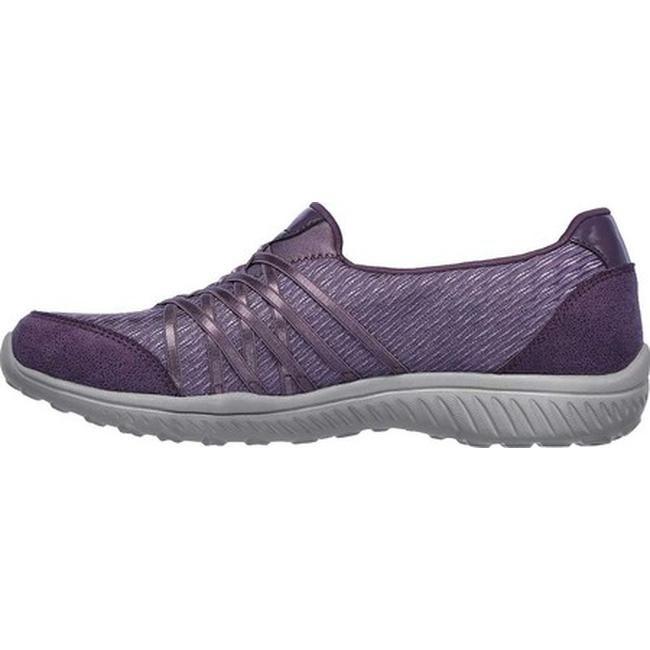 Skechers Women's Be Light Good Story Slip On Sneaker Purple