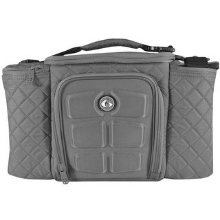 6 Pack Fitness Innovator 300 Meal Management Bag - Quilted Gray