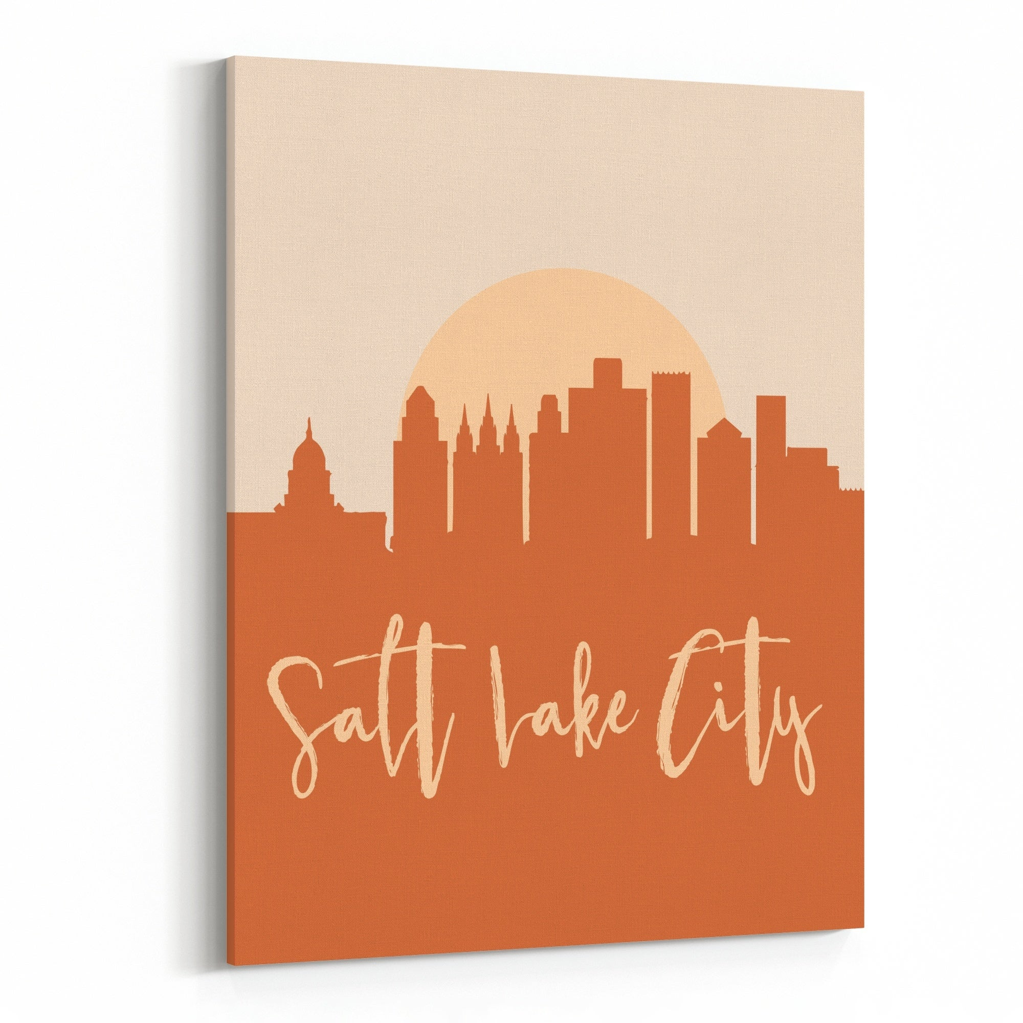 Salt Lake City Utah City Cityscape Canvas Wall Art Print Overstock 31651678