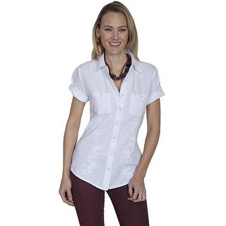 Scully Western Shirt Womens Cantina Short Sleeve Button PSL-181|https://ak1.ostkcdn.com/images/products/is/images/direct/dbf0333686d528c17a8e343ad8611cce9537f1d5/Scully-Western-Shirt-Womens-Cantina-Short-Sleeve-Button-PSL-181.jpg?impolicy=medium
