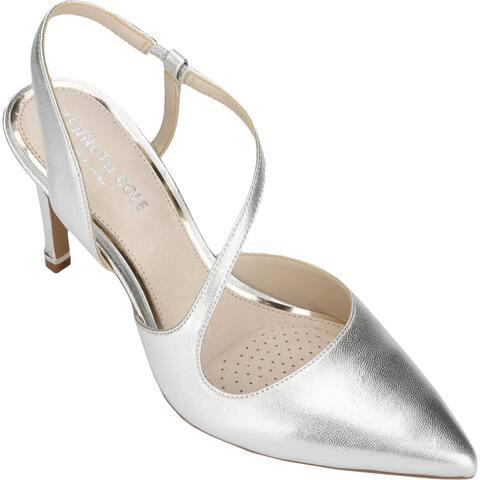 Kenneth Cole New York Womens Riley 85 Asymmetric Evening Heels Strappy