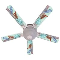 Three Dinosaur Custom Designer 52in Ceiling Fan Blades Set - Multi