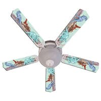 Three Dinosaur Print Blades 52in Ceiling Fan Light Kit - Multi