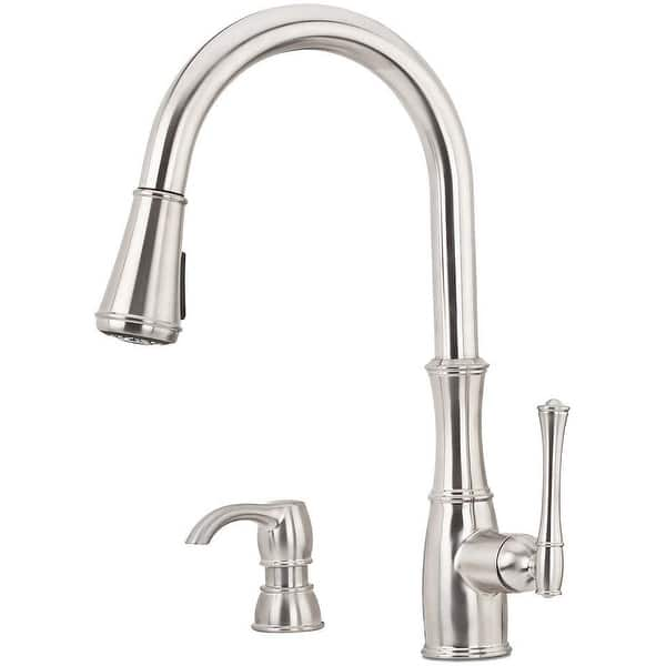 Shop Black Friday Deals On Pfister Gt529 Wh1 Wheaton 1 8 Gpm Pull Down Kitchen Faucet With Overstock 21617052 Stainless Steel