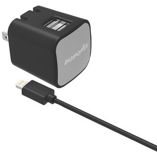 Digipower Instasense 2.4-amp Dual-usb Wall Charger With 5ft Lightning Cable