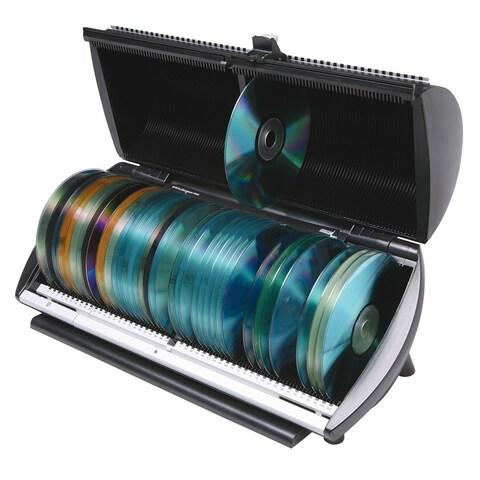 CD or DVD 100 Disc Media Storage Organizer Box - 6 in. x 15 in. x 7 in.