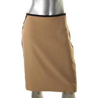 Nine West Womens Paris Pencil Skirt Slim Knee-Length