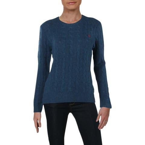 Polo Ralph Lauren Womens Julianna Pullover Sweater Wool Long Sleeves