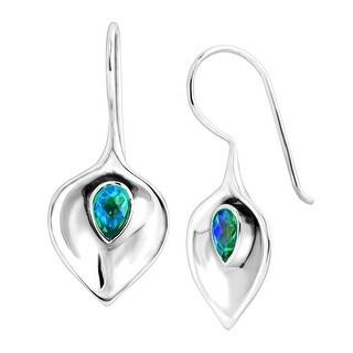 Sajen Caribbean Quartz Calla Lily Drop Earrings in Sterling Silver - Multi-Color