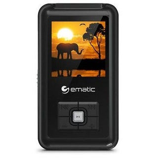 Mp3 Player, Ematic  8Gb Black Mp3 Video Player With 1.5 Inch Touchscreen And Fm Tuner [ Em208vidbl ]