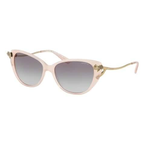 Coach Cateye HC8242BF Women MILKY PINK BLUSH Frame GREY GRADIENT Lens Sunglasses