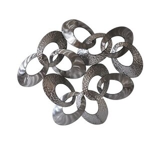 """Moes Home Collection MJ-1008 33"""" x 39"""" Looped Metal Art - N/A"""