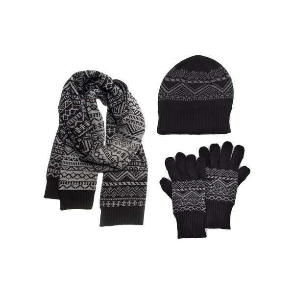 Shop Muk Luks Hat Scarf Gloves Mens Texting Thumb 3 Piece O S - Free  Shipping Today - Overstock - 18967363 1fe55163dc15