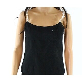 Trina Turk NEW Black Womens Size 4 Sequin Embellished Straps Tank Top
