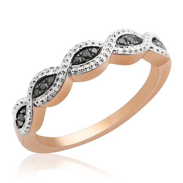 Beautiful Round Brilliant Cut Black Diamond Wedding Band Ring