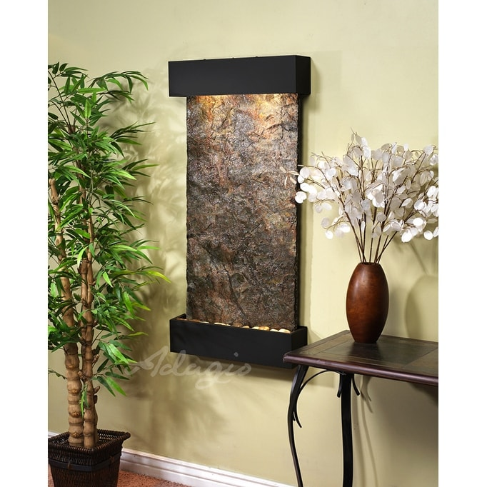 Adagio Whispering Creek Fountain w/ Rajah Natural Slate in Copper Vein Finish - Thumbnail 0