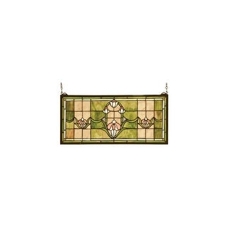Meyda Tiffany 98463 Stained Glass Tiffany Window from the Arts & Crafts Collection - N/A