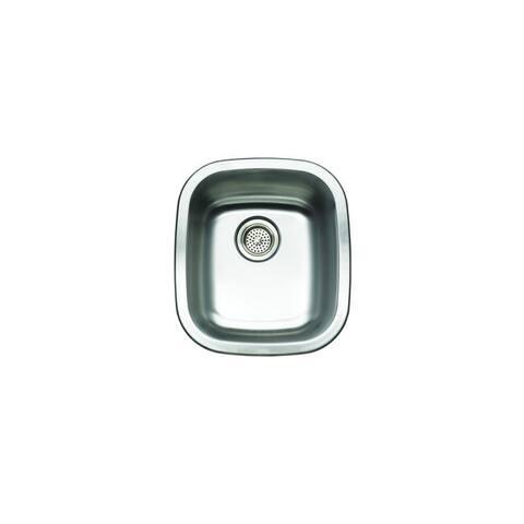 """Mirabelle MIRUC1517 14-1/2"""" Single Basin Stainless Steel Bar Sink - Undermount Installation - Stainless Steel"""