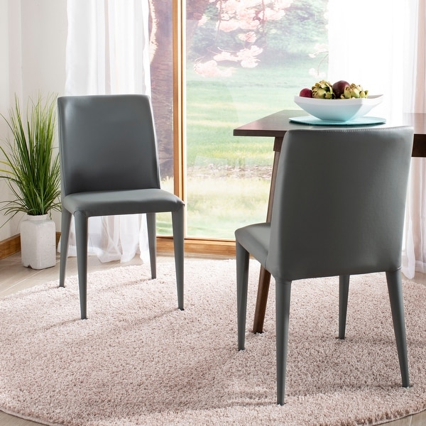 "Safavieh Dining Metropolitan Garretson Grey Dining Chairs (Set of 2) - 22.5"" x 17.4"" x 33.5"". Opens flyout."