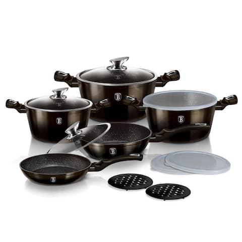 Berlinger Haus 13-Piece Kitchen Cookware Set, Black Collection