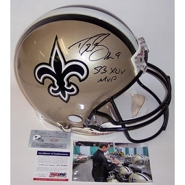 b3e0da841 Shop Drew Brees Autographed Hand Signed New Orleans Saints Full Size  Authentic Helmet - PSA/DNA - Free Shipping Today - Overstock - 12784936