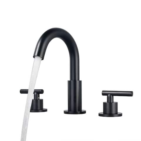 2 Handle 8 Inch Widespread Bathroom Faucet