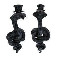 Pair of Coiled Cobra Wall Mounted Candle Holders