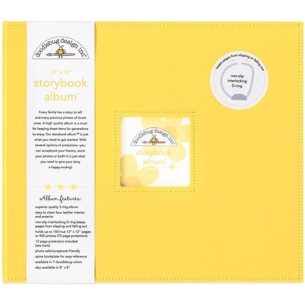 """Doodlebug Storybook Album 12""""X12""""-Bumblebee"""